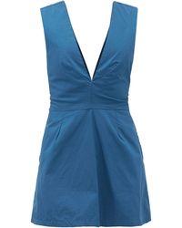 Kalita Combi-short en coton à nouer Lemuria - Bleu
