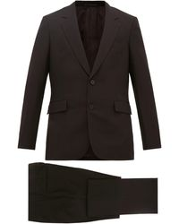 The Row Nolan Single-breasted Wool-blend Suit - Black