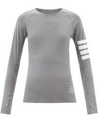 Thom Browne 4bar コンプレッション ロングスリーブtシャツ - グレー