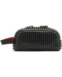 Christian Louboutin Blaster Studded Leather Wash Bag - Black