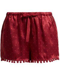 Figue - Maja Polka Dot Silk Shorts - Lyst