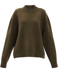 Raey Responsible-wool Displaced-sleeve V-neck Sweater - Multicolour