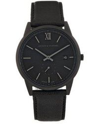 Larsson & Jennings - Saxon Stainless-steel And Leather Watch - Lyst