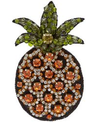 N°21 - Crystal Embellished Cocktail Pineapple Brooch - Lyst