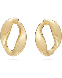 MISHO - Chunky Chain Gold Plated Hoop Earrings - Lyst
