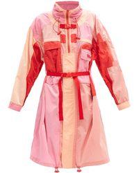 Stella McCartney マイア カラーブロック ハイネックコート - ピンク