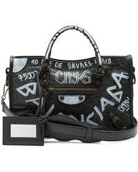 df8cc1a2d3 Balenciaga Classic Hip Leather Cross-Body Bag in Blue - Lyst