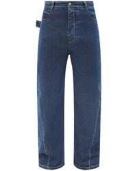 Bottega Veneta ツイストシーム ワイドジーンズ - ブルー