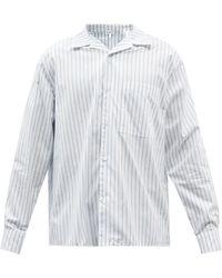 Loewe ストライプコットン スプレッドカラーシャツ - ホワイト