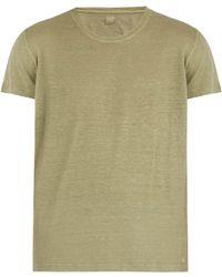 120% Lino - Short Sleeved Linen T Shirt - Lyst