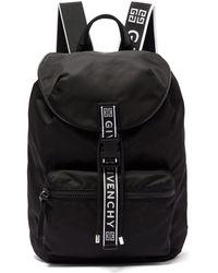 Givenchy Light 3 Leather Trimmed Nylon Backpack - Black