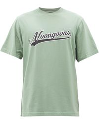 Noon Goons Co-ed Printed Cotton-jersey T-shirt - Green