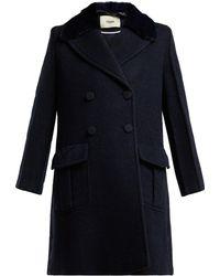 Fendi - Double-breasted Wool-blend Coat - Lyst