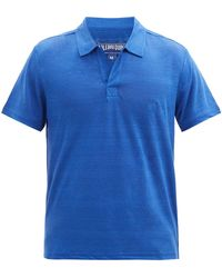 Vilebrequin ピラミッド リネンポロシャツ - ブルー