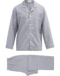 Emma Willis Zephirlino Striped Cotton Pyjamas - Blue