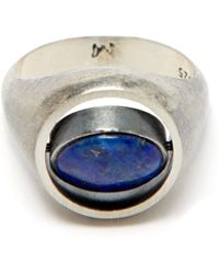 M. Cohen Spinning Lapis And Sterling Silver Ring - Metallic