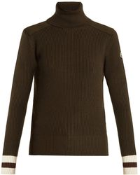 Moncler - Contrast-cuff Roll-neck Wool Sweater - Lyst