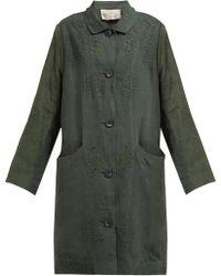 By Walid Cedric 1920s Linen Coat - Green