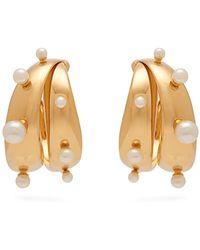 Peter Pilotto Faux Pearl-embellished Earrings - Metallic