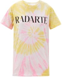 Rodarte Radarte-print Tie-dye Jersey T-shirt - Yellow