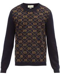 Gucci - GGアーガイル ウールセーター - Lyst