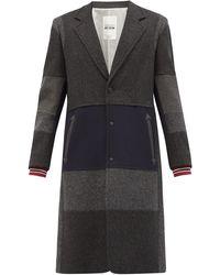 Valentino Garavani Single-breasted Patchwork Wool-blend Coat - Multicolour