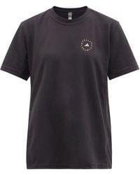 adidas By Stella McCartney オーバーサイズ コットンブレンドtシャツ - ブラック
