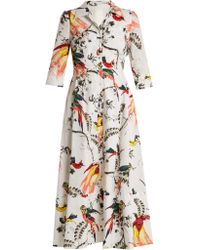 Erdem - Kasia Paisley Parrot-print Cotton Shirtdress - Lyst