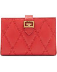 Givenchy Portefeuille en cuir matelassé GV3 - Rouge