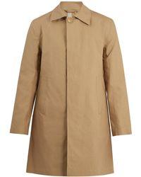 Kilgour - Bonded Cotton Water Resistant Overcoat - Lyst