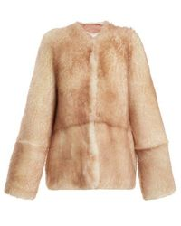 Raey - 1970s Tipped-shearling Coat - Lyst