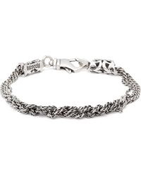 Emanuele Bicocchi Multi-knot Chain Bracelet - Metallic
