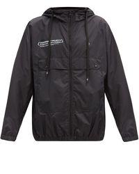7 Moncler Frgmt Hiroshi Fujiwara ヒカル ポケモンプリント フーデッドシェルジャケット - ブラック