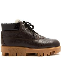 Acne Studios - Tinne Track-sole Leather Ankle Boots - Lyst