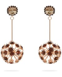 Erdem - Crystal Embellished Floral Drop Earrings - Lyst
