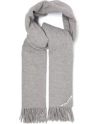 Acne Studios Écharpe en laine à franges Canada New - Gris