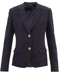 Valentino シルクキャディ シングルジャケット - ブルー