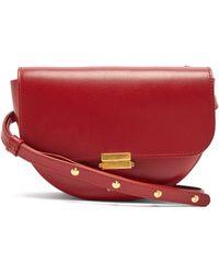 Wandler Anna Buckle Leather Belt Bag - Red