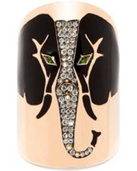 Diane Kordas Elephant Diamond & 18kt Rose-gold Ring - Multicolor