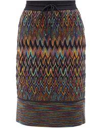 Missoni ジグザグ ウールスカート - マルチカラー