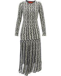 Thebe Magugu Zigzag-jacquard Tassel-hem Wool Dress - Black