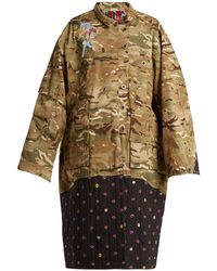 Natasha Zinko - Contrast Panel Camouflage Print Jacket - Lyst