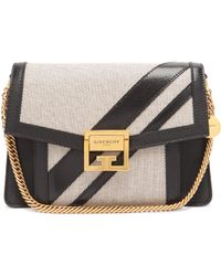 Givenchy Gv3 Small Canvas And Leather Cross Body Bag - Black