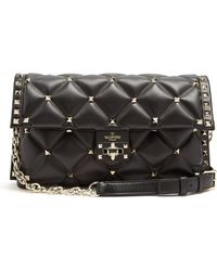 Valentino - Candystud Quilted-leather Clutch - Lyst
