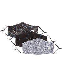 Paul Smith グラフィック コットンポプリンマスク X3 - マルチカラー