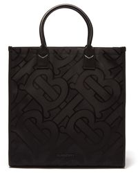 Burberry デニー モノグラム キャンバストートバッグ - ブラック