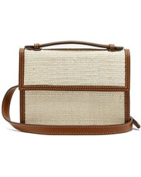 Hunting Season The Body Rattan And Leather Belt Bag - Multicolour