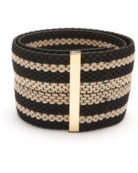 ROKSANDA Striped Woven-elastic Belt - Black