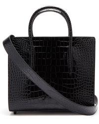 Christian Louboutin パロマ ミディアム クロコダイルパターンレザーバッグ - ブラック