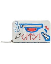 Balenciaga - Classic City Mini Graffiti Print Leather Wallet - Lyst
